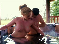 Holly Thrives In Rubbing Her Pussy On Her Stud's Face