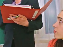 Pigtailed College Babe Julia Is Molested By A Horny Teacher